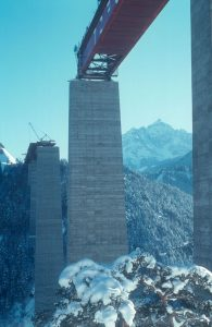 Europabrücke im Bau